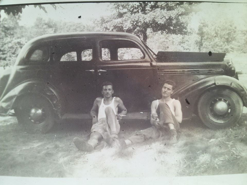 Dad and old car