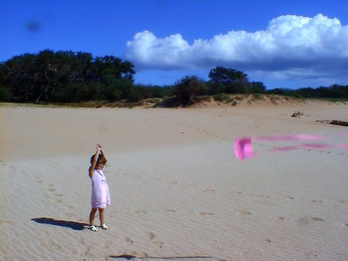 Chloe and Kite in Molokai
