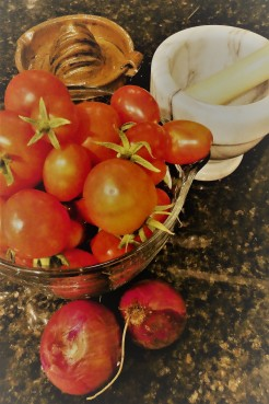 tomatoes from the garden 3