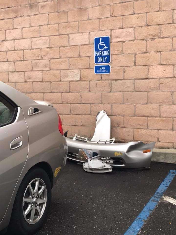 Prius in Handicapped Parking (2)